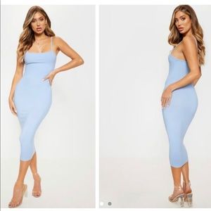 baby blue bodycon dress from pretty little thing